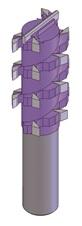 Спиральная многорезцовая фреза