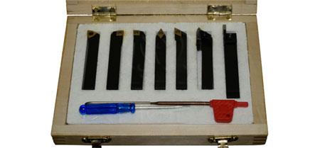 Комплект резцов со сменными пластинами, 7шт. 8x8 мм