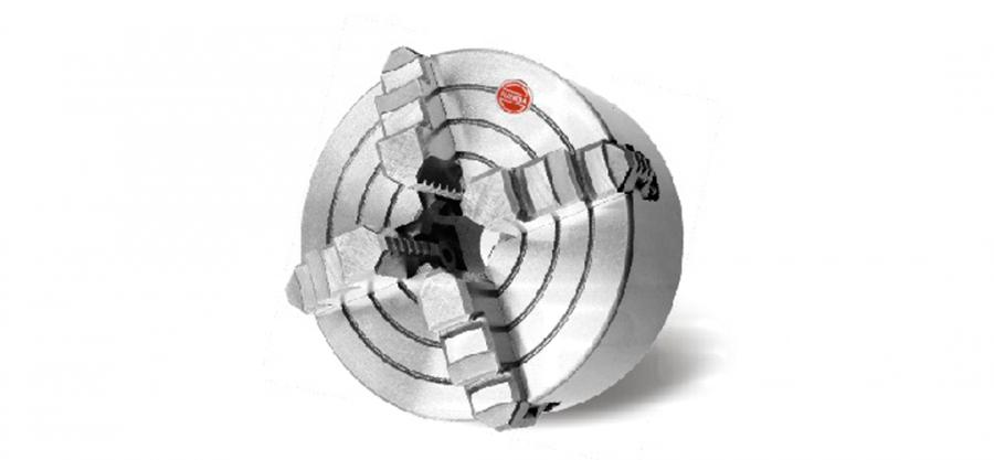 Патрон токарный четырёхкулачковый с независимым перемещением, 100 мм